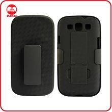 New Black Shell Slide Stand Holster Belt Clip for Samsung Galaxy S3 I9300 S307E