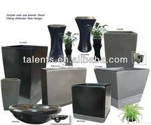 Fiberglass planter, flower pot, round, glossy or matte