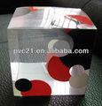 pvc patrón geométrico de la caja de impresión