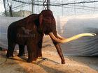 Prehistoric animatronic animal--mammoth