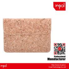 anti scratch soft felt for ipad mini magnetic real cork sleeve