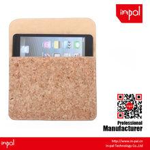 anti scratch soft felt for ipad mini magnetic real cork cover case
