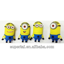 new arrival PVC cartoon minions usb 2gb 4gb 8gb 16gb