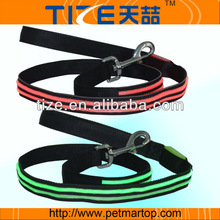 Hotsale flash LED pet leash/ led flashing dog leash/ fashion led pet leash TZ-PET5002