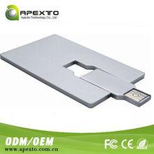 Low price OEM credit card cheap swivel metal business card usb flash drive
