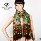 V801-3 fashion voile paisley printed scarf