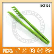 Hot sell Green nylon food tong NKT192,FDA/LFGB/SGS