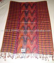 Viscose Pashmina scarf check Border with Weave design centre size 70x200 cms