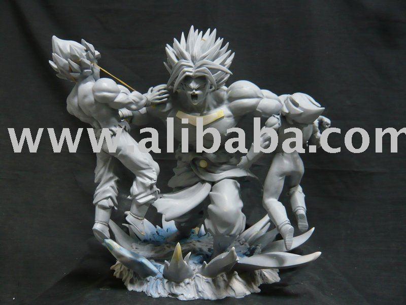 Dragonball Z BROLY 3 VS GOKU & Vegeta Resin Statue 100% NEW