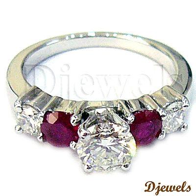Ebay Wedding Bands on 14k White Gold Ruby   Diamond Wedding Ring   Diamond Ring Products