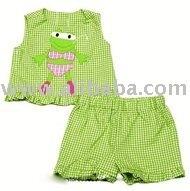 baby Infant Toddlers boy girl Funtasia Too Girls Green Ruffled Shorts Set - Swimming Girl Frog in Bikini bibs Clothing dresses