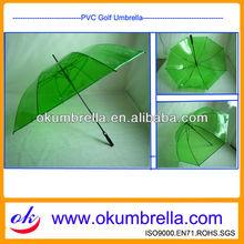 unique rain transparent clear PVC golf umbrella