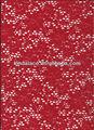 corante vermelho laço de nylon spandex amostras de tecido do laço para vestidos