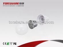 led plastic bulb light shell E27 base ADC12 Aluminum+ Milky PC cover