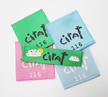 Printed Label with Colorful Satin /dye to match satin print labels for clothing