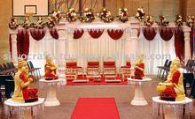 fiber wedding mandap decoration with stage Ganesha