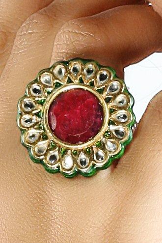 See larger image INDIAN KUNDAN POLKI BOLLYWOOD WEDDING RINGS