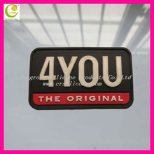 Warmly welcome your customized design silicone/pvc rubber patches for garments,back patches for jackets