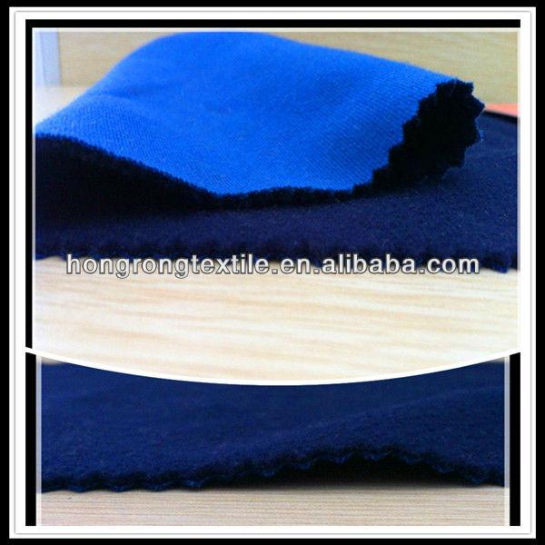 dark blue polar fleece and blue plain cloth bonded fabric