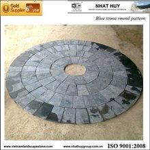 Blue stone round pattern