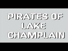 Bn1004 Pirates Of Lake Champlain Sail Transport Extinct Wooden Skull Banner Sign