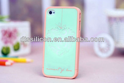 2013 creative water transfer printing plastic case for iphone cell phone acces