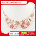 moda colorata collare naturale rosa e bianco agata collana di perline