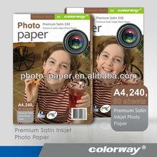 Luster photo paper premium smooth satin/ fine satin photo paper 260g 230g 190g