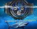2013 más nuevo de alta calidad a prueba de agua 50m hombres reloj cronógrafo relojes deportivos