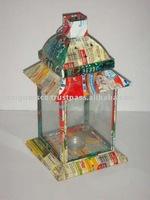 Recycled Tin Candle Lantern