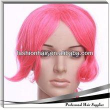 2014 Cheapest Fashion Cosplay wig,Football fans wig,Human hair pre bonded virgin hair