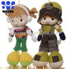 Baby doll with hat, clothes big leg soft doll plush toy factory