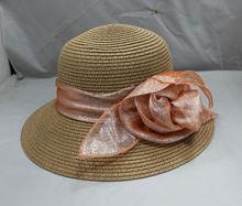 Hand Made Fashion GIirls Straw Boater Hats Summer Raffia Straw Hats