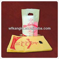 LDPE Die Cut Handle bag cheap custom shopping plastic bags