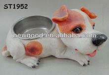 Lovely Doggy Statue Resin Dog Feeder