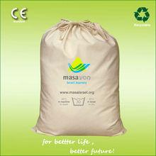 5oz natural cotton drawstring laundry bag