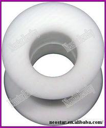 Flesh Tunnel - Silicone Rubber - White
