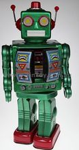 Retro Tin Toy Battery Operated Robot