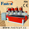 four head cnc router machine wood working tools PVC board making