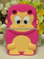 animal monkey rubber case for blackberry 9320