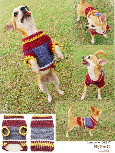Patrones de ropa de crochet para perro - Imagui