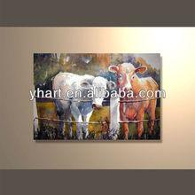 Modern popular decorative handmade canvas art animal