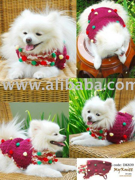 WR1034 Crochet Dog Sweater - Sewing, Needlecraft, Thread, Textile