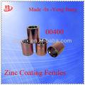 Revestimiento de Zinc hidráulico manguitos para cables, De acero al carbono hidráulico manguitos para cables