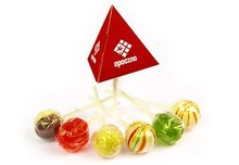 Lollipops - personalised pyramid box