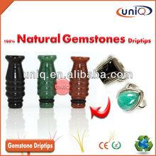 Hot Selling Colorful 100% Natural Gemstone drip tips