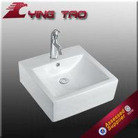 housing decoration bathroom ceramic square luxury sink top shower modern design ceramic hand sink