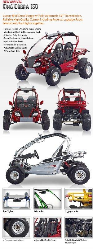 150cc Go Kart. 150cc King Cobra Go-Kart