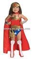 De lujo de las muchachas traje de Wonder Woman de lujo dreee CC365