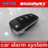 security product BIGHAWKS CA703-8118 car alarm security system flip key remote control